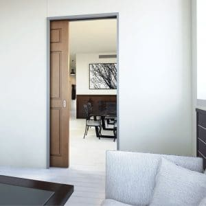 Ambiance image of our SLID'UP 2200 – Pocket door hardware kit with removable track for 1 door up to 7 ft height and 100 lbs