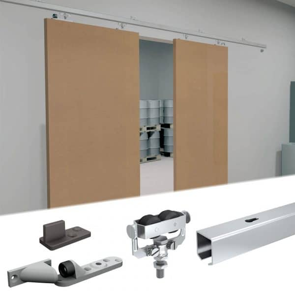 Content of SLID'UP 1300 – Sliding door hardware kit for 1 or 2 exterior doors
