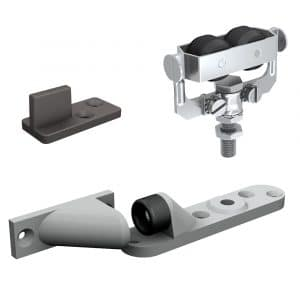 Content of our sliding door rollers kit for SLID'UP 1300 for 1 exterior door up to 130 lbs