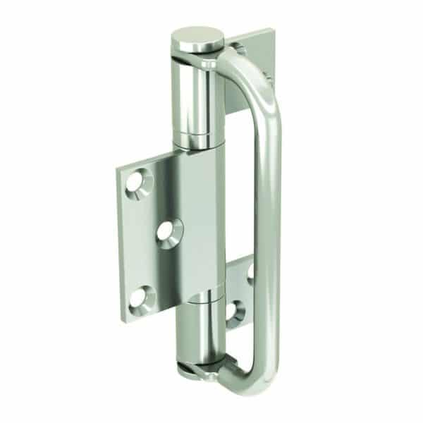 Galvanized Steel Hinge – 3/8″ axle diameter – 4-1/2″ height