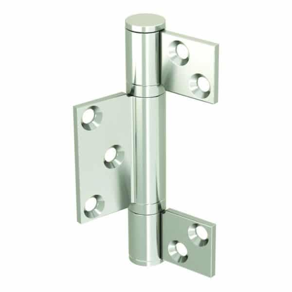 Galvanized Steel Hinge – 3/8″ axle diameter – 4″ height