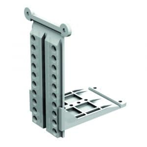 Brackets to mount sliding door track on sloped wall