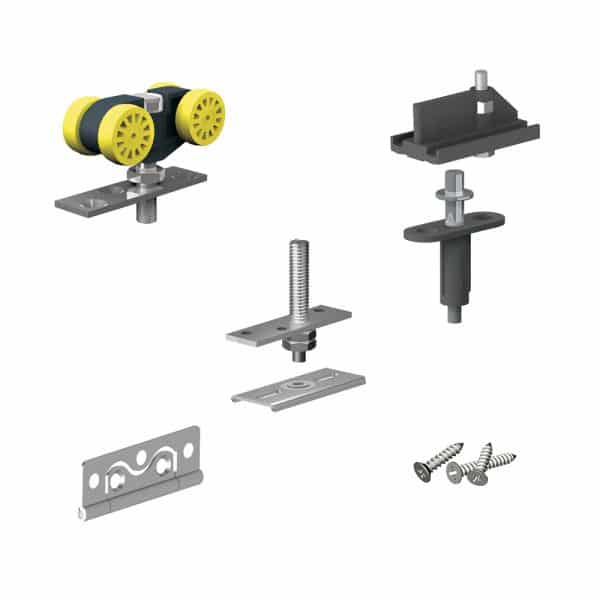 Bifold door rollers kit for SLID'UP 140 for 2 folding panels up to 55 lbs each