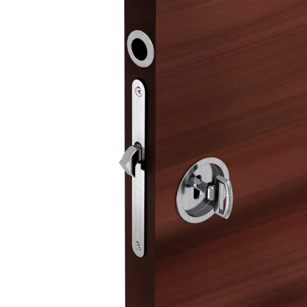 Mounting of our mortise lock assembly kit – Round finger pull and flush handles with key
