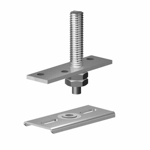 Bottom pivot bracket for bifold doors for SLID'UP 140, 150