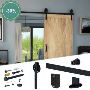 SLID'UP 240 - Sliding barn door hardware kit - Big wheels style discount