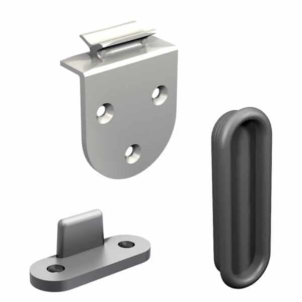 Content of our cabinet door sliders kit for SLID'UP 1900