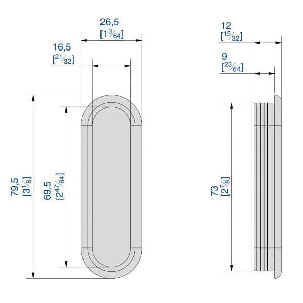 Drawing with dimensions of our black ABS handle