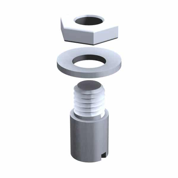 Galvanized steel cylindrical stopper for double doors joining in the center for SLID'UP 1900