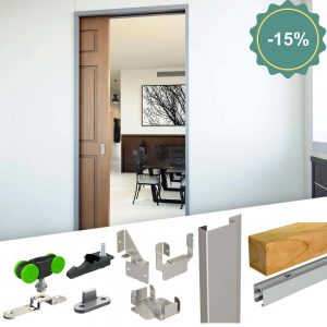 SLID'UP 2200 - Pocket door hardware kit with removable track - discount