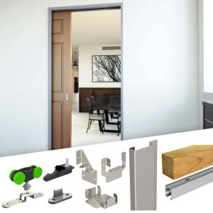SLID'UP 2200 - Pocket door hardware kit with removable track