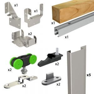 Quantity of items in our SLID'UP 2200 - Pocket door hardware kit with removable track